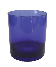 Whiskey Glasses Scotch or Old-Fashioneds Blue Plastic Drinking Glass 14 oz 4 Pc