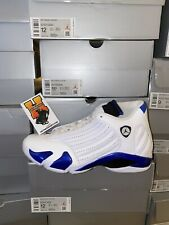 2020 Nike Air Jordan Retro 14 White Hyper Royal 487471-104 GS & MEN SZ:4Y-14