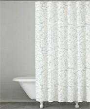 "Kassatex Fern Leaf Flowing 100% Cotton 72"" Shower Curtain - Clearwater Blue"
