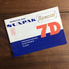 SUNPAK SPECIAL 7D FLASH USER / INSTRUCTION MANUAL / GUIDE