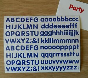 Sticky Back Vinyl Letters Rounded Alphabet 15/20/25/30/40 mm signs banners shop