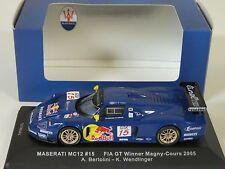 1/43 IXO Maserati MC12 FIA GT #15 Winner Magny-Cours 2005 Bertolini Wendlinger