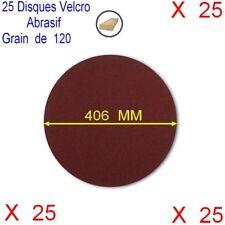 Lot de 25 Disques Velcro Abrasif Ponceuse Sol Ø 406 mm,Grain 120,Auto-Agrippant