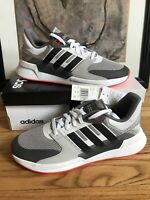Adidas Mens Run 90's Grey/Red Running Shoes Size 11 EE9871