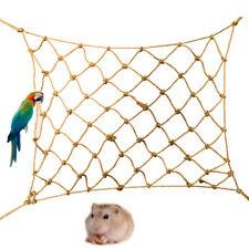 BL_ KF_ AU_ Parrot Cage Net Toy Bird Hanging Climbing Standing Hammock Pet Acces