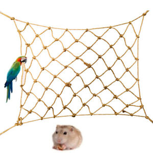 EE_ EG_ Parrot Cage Net Toy Bird Hanging Climbing Standing Hammock Pet Accessory