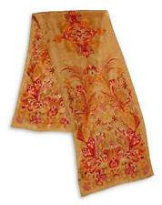 NWT LAUREN RALPH LAUREN Michele Printed 100% Silk Scarf Golden Tan MSRP:$45