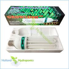 HYDROPONICS COMPACT FLUORESCENT LAMP CFL GROW LIGHT 25000K 130W BULB GLOBE