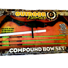Outdoor Hunter Kids Toy Compound Bow Suction Cup Arrows Deer Target NIB