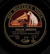 GORDON WOODHOUSE, Violet,harpsichord. Bach Italian Concerto; Haydn Sonata HMV E+