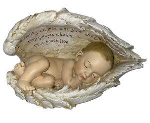 Joseph Studio 4.25 Inch Tall Sleeping Baby in Wings Figurine