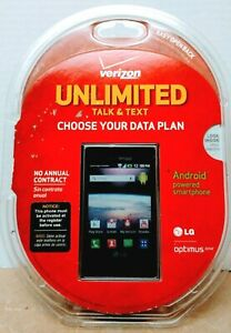 Verizon LG OPTIMUS ZONE Android Powered Smartphone UNLIMTED Talk & Text NEW