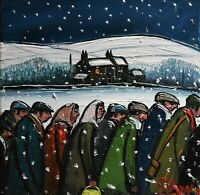 Superb James Downie Original Oil Painting - Out In The Snow