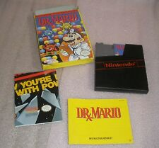 Nintendo NES Dr Mario video game TESTED complete