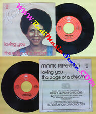 LP 45 7''MINNIE RIPERTON Loving you The edge of a dream 1975 italy no cd mc dvd*