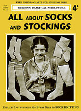 Weldon's 4D #23 c.1929 Vintage Sock Knitting Patterns and Instructions