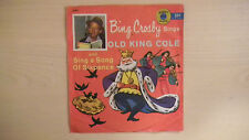 """Golden Yellow Record Bing Crosby OLD KING COLE 6"""" 78 RPM 1957"""