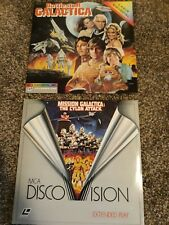 Battlestar Galactica laserdiscs (includes 2 - theatrical cut and cylon attack)