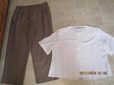 Kathie Lee plus sz 20w 29 inseam dress pants & Claudia Richard top 20w lot j137