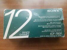 Sony FM/MW/SW 12 Band Receiver ICF-7601 W/Original Box & All Original Accs WORKS