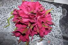 Lichterkette aus Fiilzwolle Pink , Blumengirlande, Filzblume