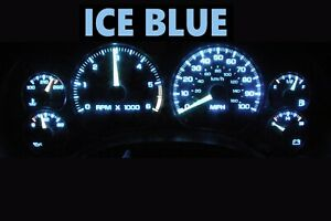 Gauge Cluster LED Dashboard Bulbs Ice Blue For Chevy Blazer S10 GMC Jimmy 01 05