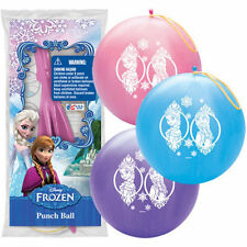 Purple Disney Frozen Printed Punch Balloon Ball Toy Party Favor