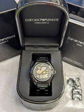 Automatic Emporio Armani Watch MECCANICO AR1427 Ceramic Box Manual