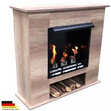 Gelkamin Ethanolkamin Kamin Fireplace Modell 001B Eiche Hell inkl. 27 teil. Set