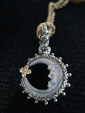 BARBARA BIXBY CHARM PENDANT MOON MOP MOTHER OF PEARL CRESCENT Mother's Day Gift