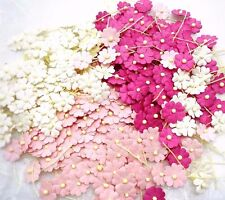100 Mixed Tone Pink &white Flower mulberry paper for Craft & D.I.Y(Size 10 mm)