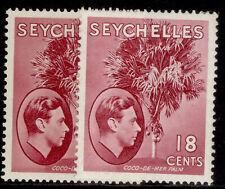 More details for seychelles gvi sg139c + 139cb, 18c shade varieties, m mint. cat £59.