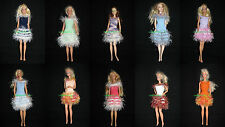 lot de10 robes pour barbie uniques made in france lovely handmade pop  dresses