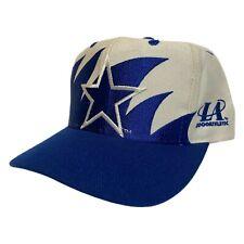 Vintage 90s Dallas Cowboys Logo Athletic Sharktooth Snapback Hat Cap Rare EUC