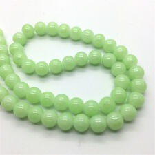New 10mm 20Pcs Jade Color Glass Round Pearl Loose Beads DIY Jewelry Making #MM19