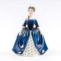 Vtg Royal Doulton England Bone China Figurine Debbie HN 2385 Blue Dress Retired