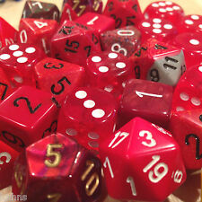Chessex BY COLOR - 3 ounces assorted RED dice from Pound-O-Dice - Pound Dice