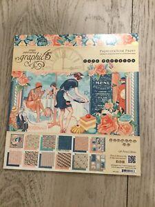 Graphic 45 8 X 8 Cafe Parisian New Paper Pad 24 Sheets
