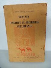 TRAVAUX DE L'INSTITUT DE RECHERCHES SAHARIENNES UNIVERSITE D' ALGER 1959