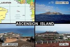 SOUVENIR FRIDGE MAGNET of ASCENSION ISLAND