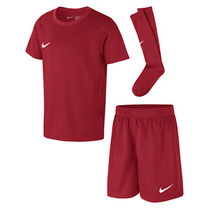 Nike Park Toddlers Football Training Kit Set - Red ( Can add Name & Number )