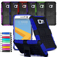 For HTC 10 One M10 Heavy Duty Shock Proof Hard Case Back Cover + Screen + Stylus