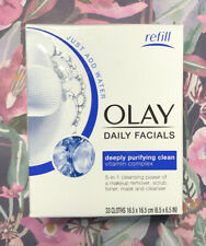 Olay Daily Facials Deeply Clean 5 in 1 Water Activated Cloths 33 Count ADD WATER