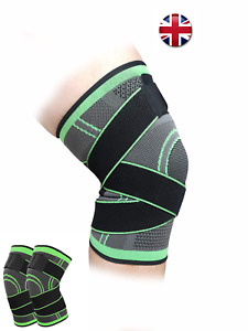 Knee Brace Sleeve 3D Weaving Fitness Gym Workout Basketball Adjustable Unisex