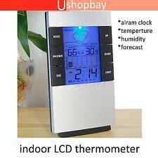 Indoor LCD Digital Hygrometer Thermometer Temperature Humidity Meter Clock Alarm