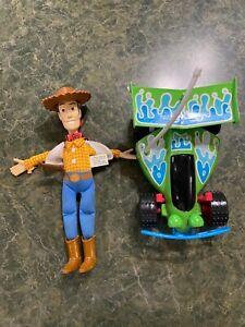 """Vintage  Disney Pixar TOY STORY RC Car 7""""  Woody Burger King"""