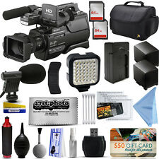 Sony HXR-MC2500 Shoulder Pro Video Camcorder + Mic + 2x Batteries + 128GB + LED