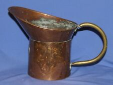 Antique Hand made copper funnel with spout and handle