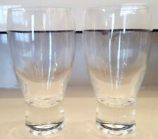 SET OF TWO LIBBEY DRINKING  OR BEER GLASSES HEAVY BOTTOM