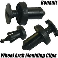 10x Clips For Renault Splashguard Undertray Sideskirt Wing 6.5mm 7703072361
